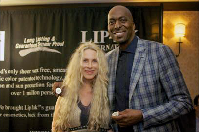 Lip Ink at the Red Carpet Style Lounge with Vernon Davis