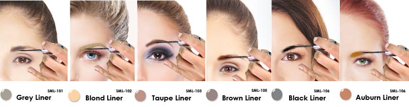 Lip Ink Smearproof Brow Liner Colorswatch