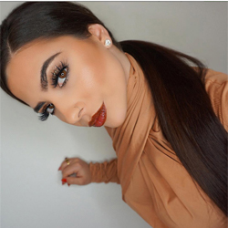 Amanda Asabic wears LIP INK Caramel