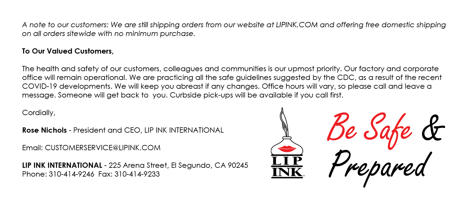 Lip Ink weekly special
