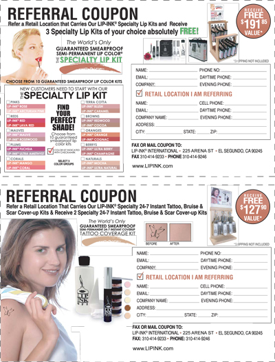 LIP INK Referral Coupon