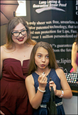 Lip Ink at the Red Carpet Style Lounge with Caitlin Carmichael